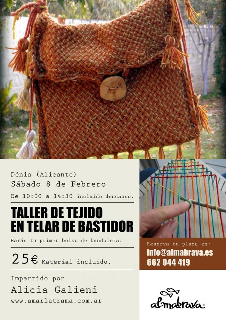 taller de tejido en telar de bastidor Almabrava Denia