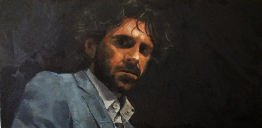 Retrato de José Tomás. 35 x 70. Óleo sobre lienzo