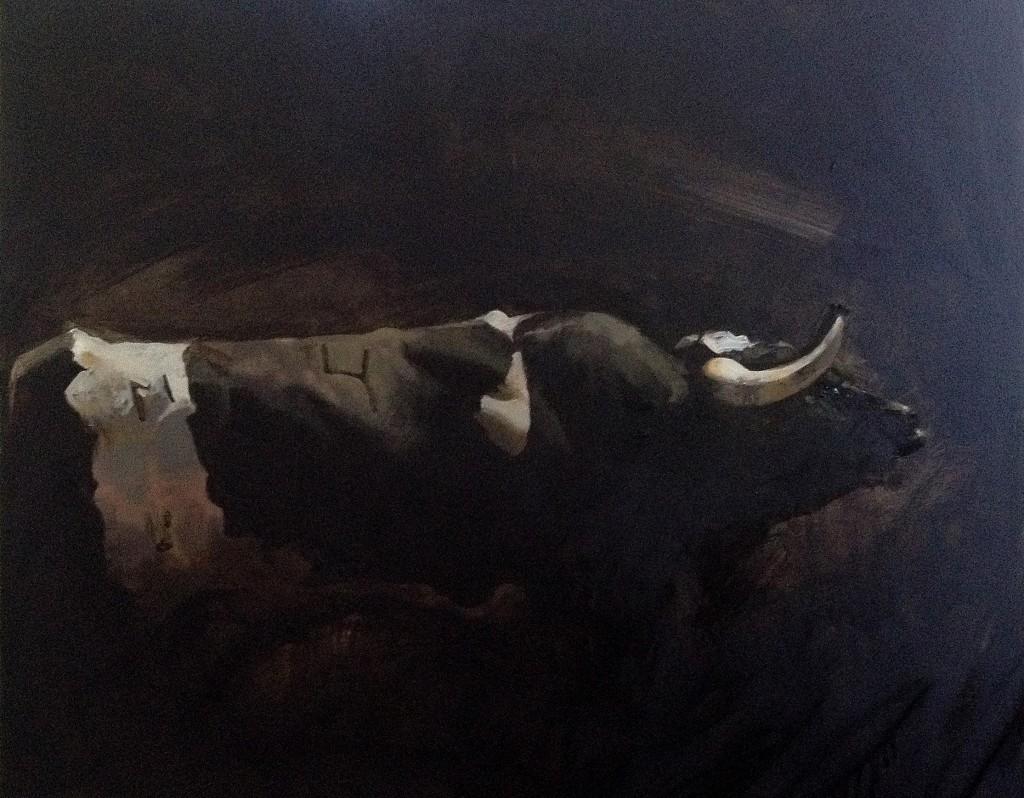 Bragado. 100 x 81. Óleo sobre lienzo
