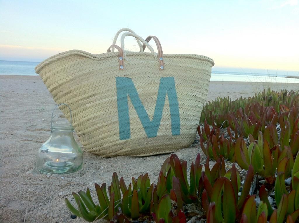 Capazo de playa personalizado