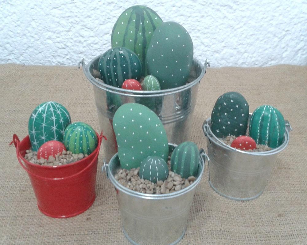 pintar piedras para hacer cactus es muy sencillo adems de y relajante algn da nos atreveremos a pintar mandalas en las piedras