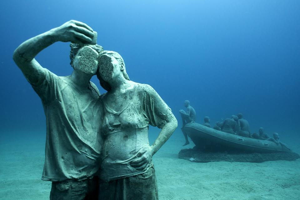 Selfie Clean. Jason deCaires Taylor. Museo Atlántico de Lanzarote.