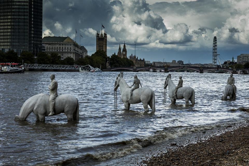 The Rising Tide. Jason deCaires Taylor. Londres.