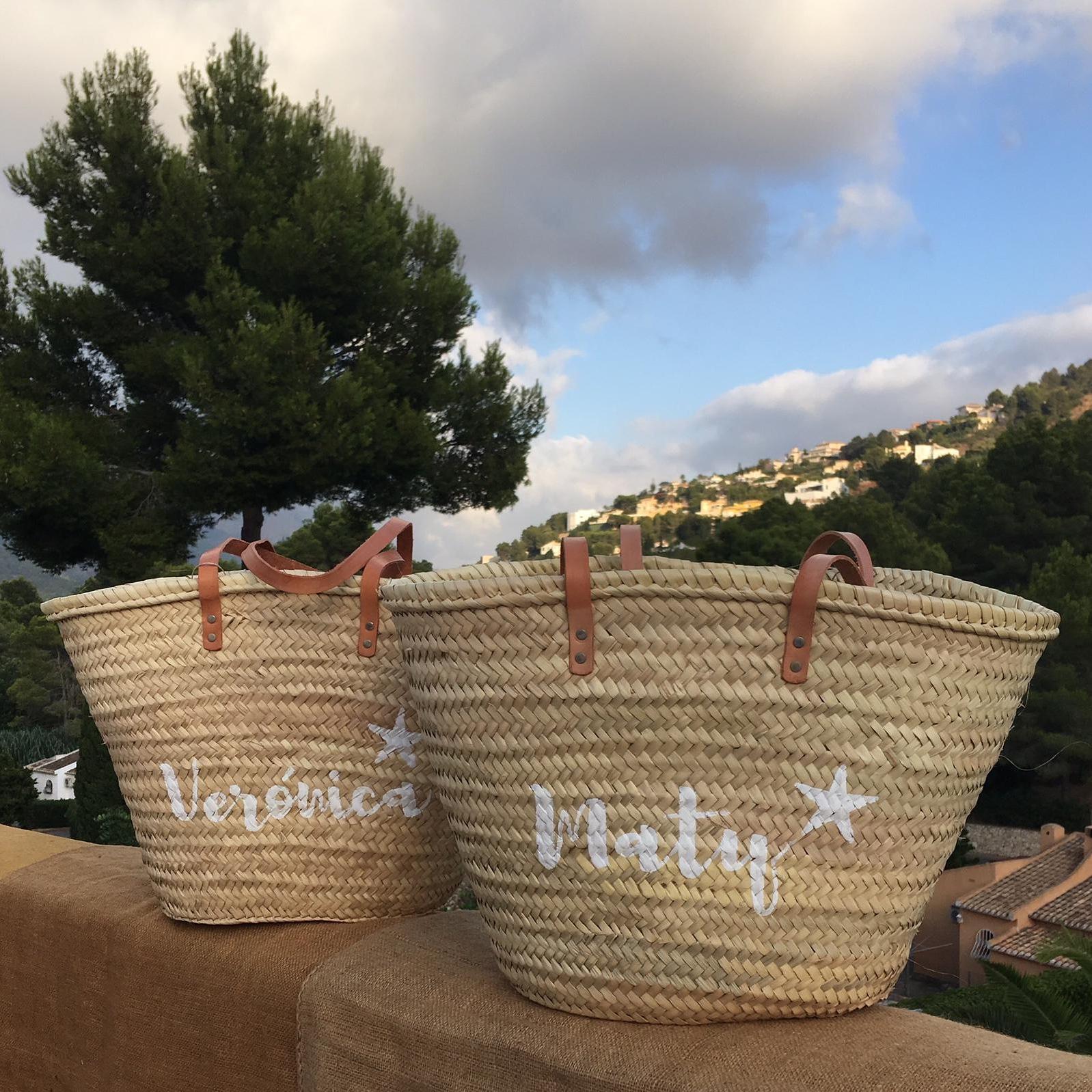 Bolsos de playa fibras naturales