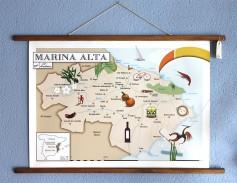 Mapa de la Marina Alta