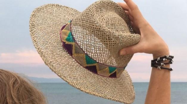 Sombreros de fibras naturales para chicas
