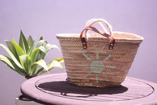 Natural fiber bags (hand painted)