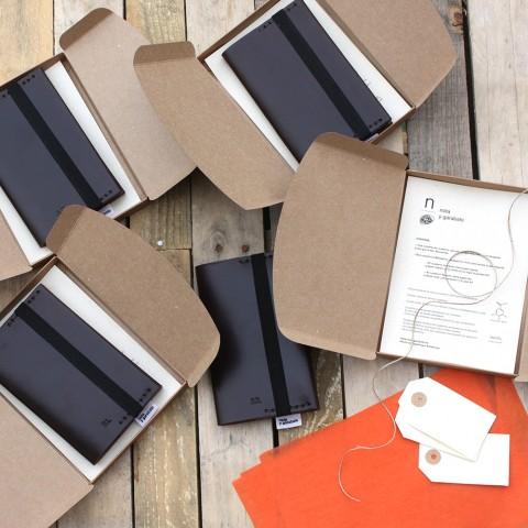 Nota y Garabato: libreta de cuero personalizada